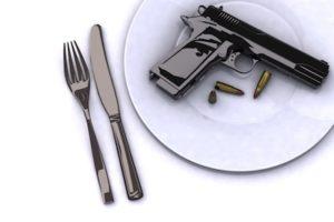 concept of food dangerous 3d illustration
