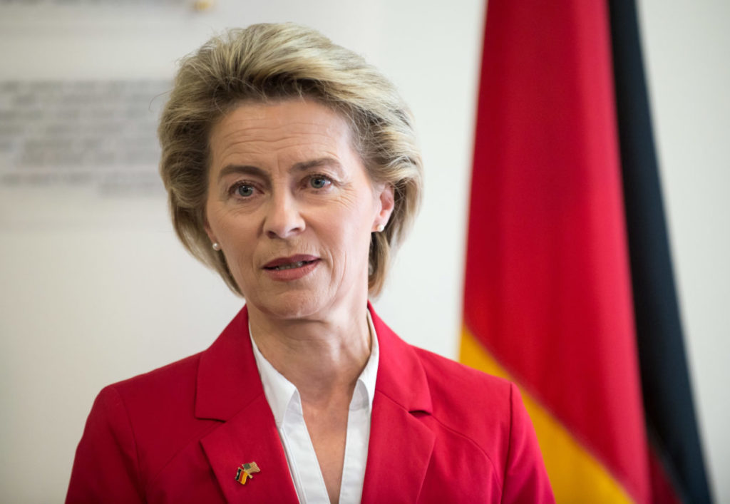 Ursula von der Leyen, Germany's minister for defence, and Secretary of Defense Jim Mattis speak to the press at the George C. Marshall European Center for Security Studies in Garmisch, Germany, June 28, 2017. (DOD photo by U.S. Air Force Staff Sgt. Jette Carr)