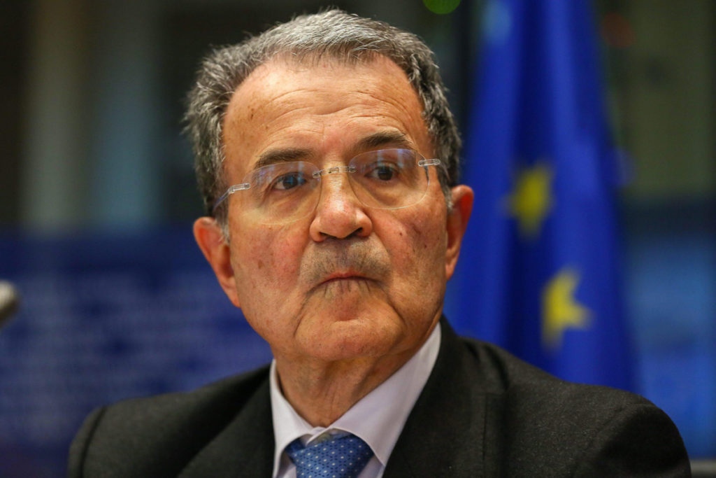 epa03654119 Romano Prodi, UN Special Envoy for the Sahel during an exchange of views on the situation in the region of Sahel, at the EU parliament headquarters in Brussels, Belgium, 08 April 2013.  EPA/JULIEN WARNAND