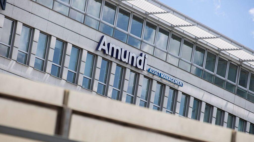 Der Standort des französichen Vermögensverwalter Amundi Asset Management in München. Amundi ist die größte Vermögensverwaltung Europas und die achtgrößte der Welt. Amundi ist seit 2015 an der Börse gelistet und im Mid-Cap Index CAC MID 60. (Photo by Alexander Pohl/Sipa USA)/30141557//2006271102